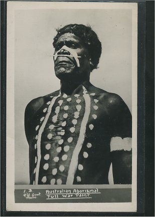 Australian Aboriginal - Full war paint.