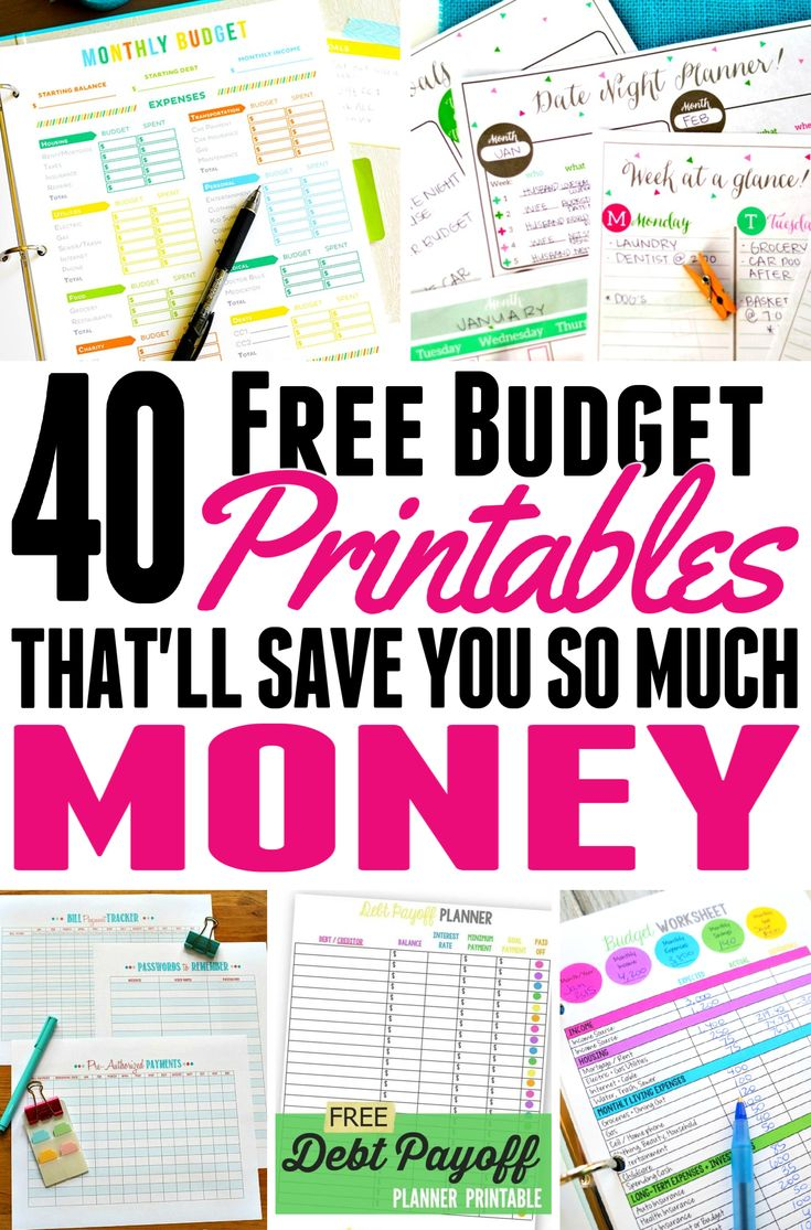 40 Free Budget Printables That'll Save You A Ton In 2019