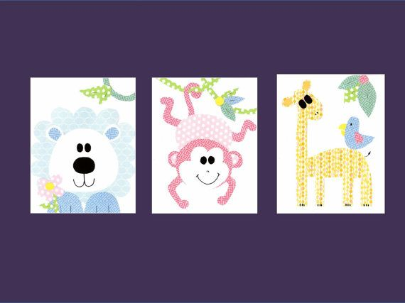 Theme nursery artwork print baby room decoration kids room decoration