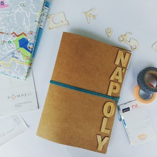 Handmade travellers notebook for a weekend in Naples