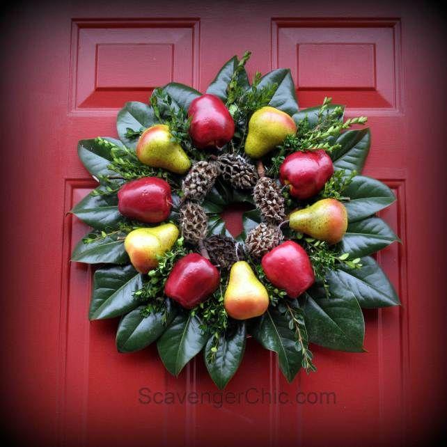 Christmas Wreath diy, Fruit wreath, Holiday wreath, wreath diy, Williamsburg  wreath..easy | christmas | Christmas wreaths, Christmas, Wreaths - Christmas Wreath Diy, Fruit Wreath, Holiday Wreath, Wreath Diy