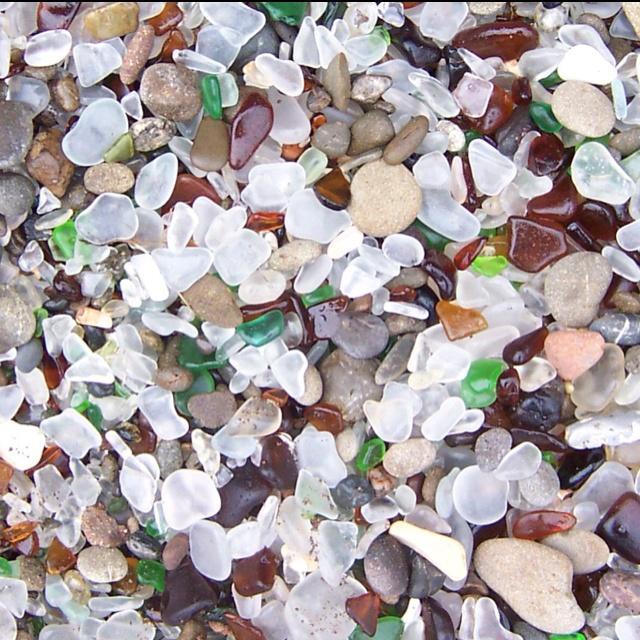 Glass Beach in Fort Bragg.