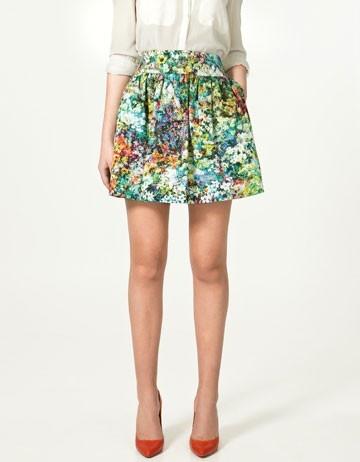 Floral Mini Skirt lookitsastar