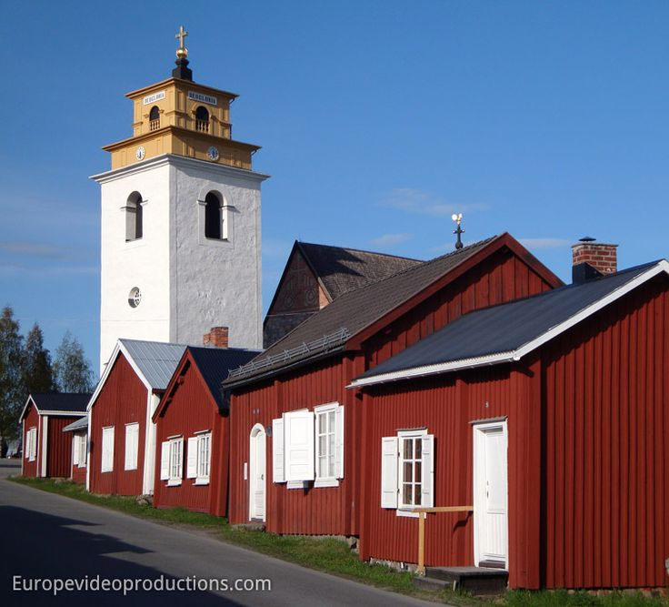 Gammelstad Church Town in Lulea in Swedish Lapland