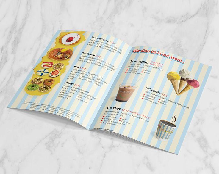Takeaway Menu Design for Happy Donuts