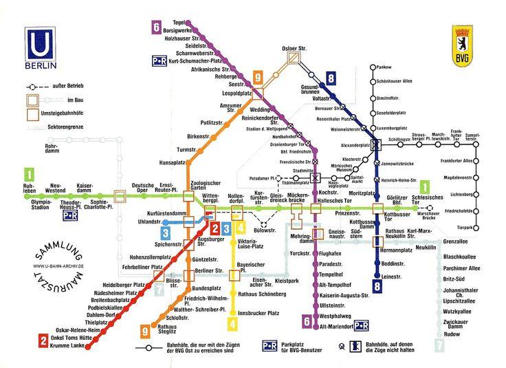 New Stadtgeschichte So sah der Berliner U Bahn Plan fr her aus
