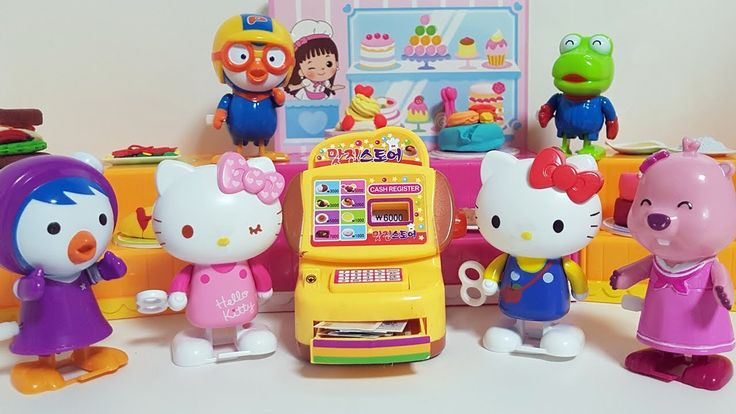 Hello Kitty and Pororo Food Casher Play Toy & 헬로키티와 뽀로로 소꼽놀이