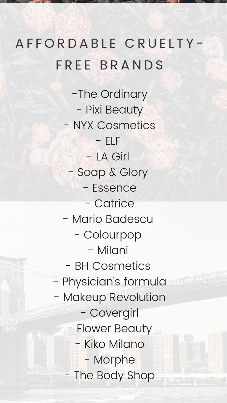 cruelty free makeup brands drugstore 2018