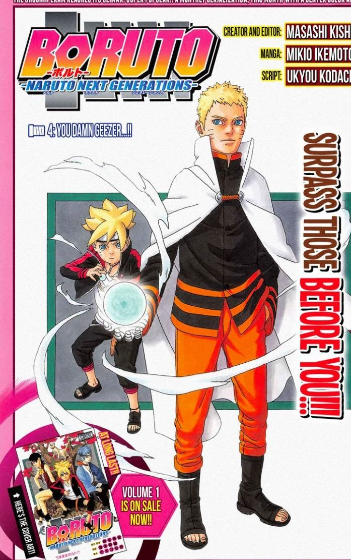 BORUTO CHAPTER 4 the latest chapter is out at Mangafreak