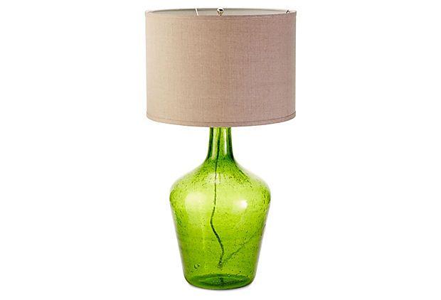 Plum Jar Table Lamp, Green on OneKingsLane.com