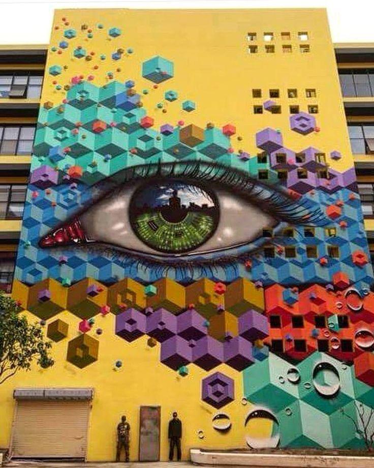 Future Vision by @snub23 and @mydogsighs in Shenzhen China (http://globalstreetart.com/snub23) #snub23 #mydogsighs #globalstreetart