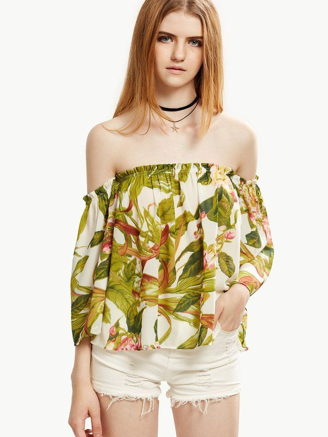 Floerns Women's Casual Print Off Shoulder Flare Sleeve Top Loose #Blouse - This blouse will be flattering fit to all body types. dress is in excellent shape, You will looks like a sweet Flower Angel!  Price:  $16.99 Sale:  $14.99 & FREE Shipping You Save:  $2.00 (12%)  Find it at https://www.amazon.com/Floerns-Womens-Casual-Shoulder-Sleeve/dp/B01IKH1IS2/ref