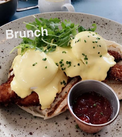Have you tried our Buttermilk Chicken Benedict yet? It's a new addition to our brunch menu in #Swords #Malahide #DunLaoghaire #Santry it's the perfect #Brunch dish ❤️#eggs #buttermilkchicken #yum #food #foodie