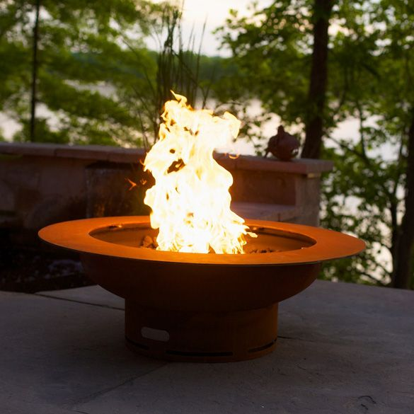 Fire Pit Art Saturn Outdoor Gas Fire Pit With Lid Heat And Cool