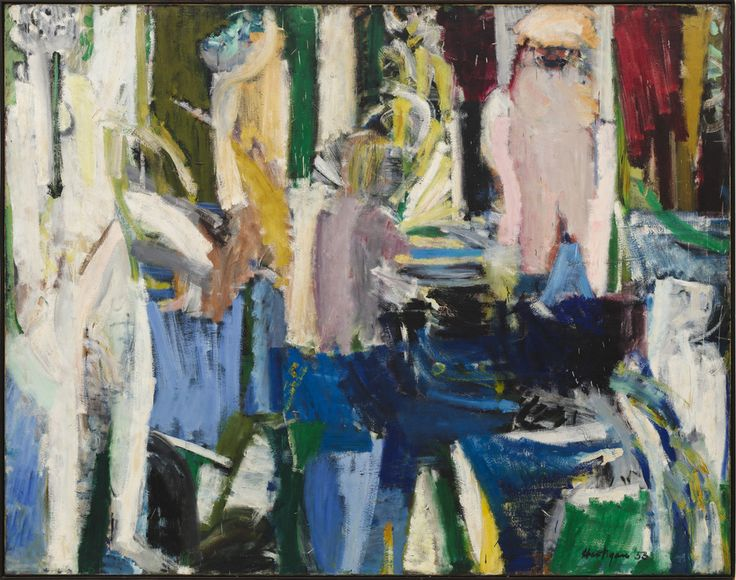 cavetocanvas: Grace Hartigan, River Bathers, 1953 | art ...