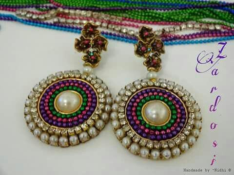Quilling grand earrings