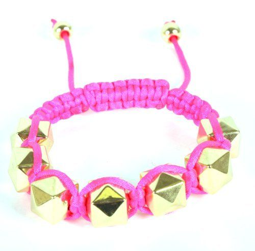 Pink Shamballah Macrame Bracelet with 7 Diamond Shaped Squares JOTW. $4.95. 100% Satisfaction Guaranteed!; Great Quality Jewelry!