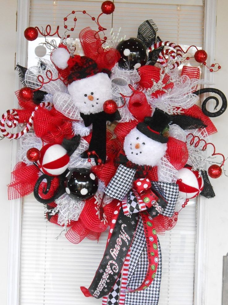Mesh snowman Christmas wreath, Christmas mesh wreath, Snowman wreath, Christmas…