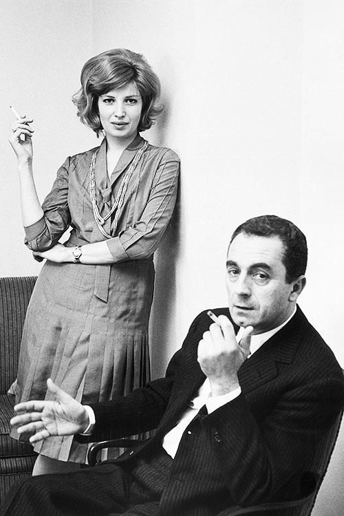 Michelangelo Antonioni et Monica Vitti, 1961.