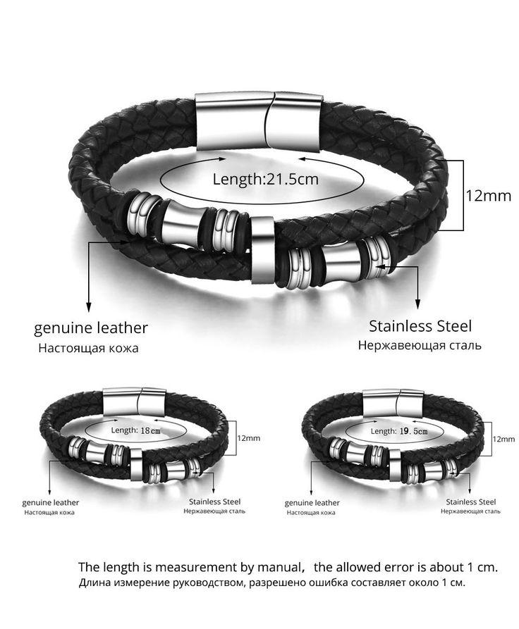 Новинка из нержавеющей стали китай мужчины браслет из натуральной кожи для мужчин браслет мужчины ювелирные изделия ( JewelOra BA101174 )