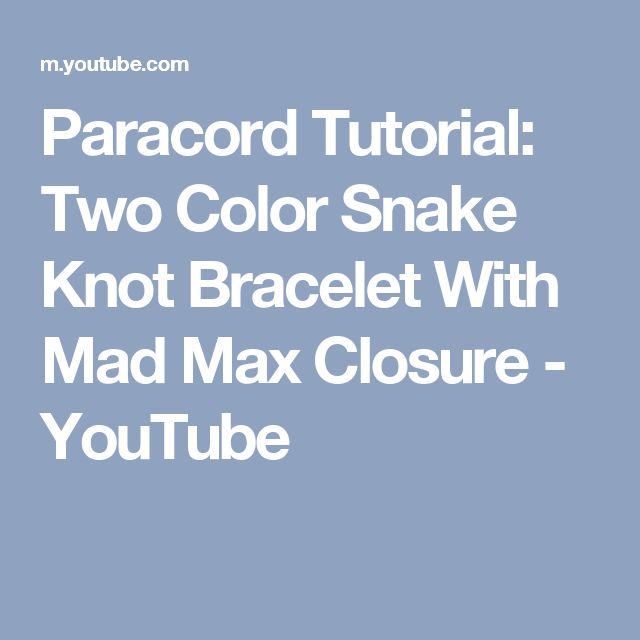 how to make a paracord bracelet youtube