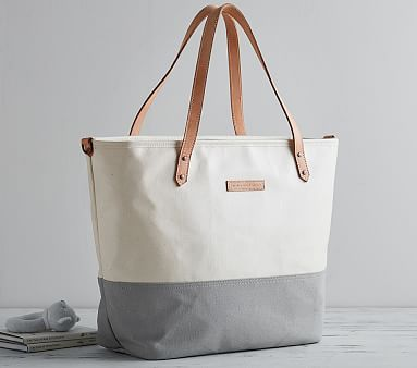 Petunia Pickle Bottom Birch/Stone Downtown Tote #pbkids