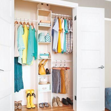 En étapes: poser un système de rangement pour la garde-robe - En étapes - Décoration et rénovation - Pratico Pratique