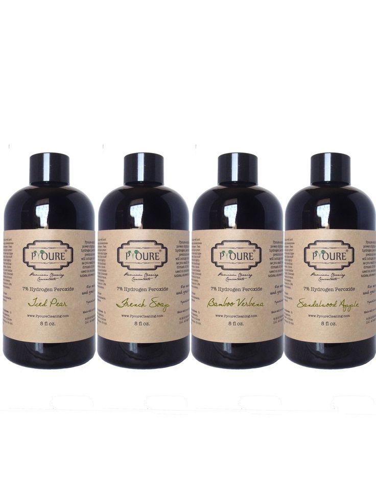 7% Hydrogen Peroxide Cleaner Concentrate Sample Pack - Makes 1.25 Gallons (160 fl Ounces)