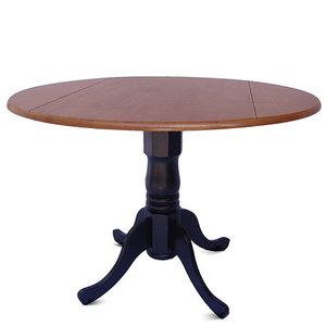 @Theresa Burger Ziegenbalg cute for ur kitchen. Round Kitchen Table With Drop Leaves, Black / Cherry