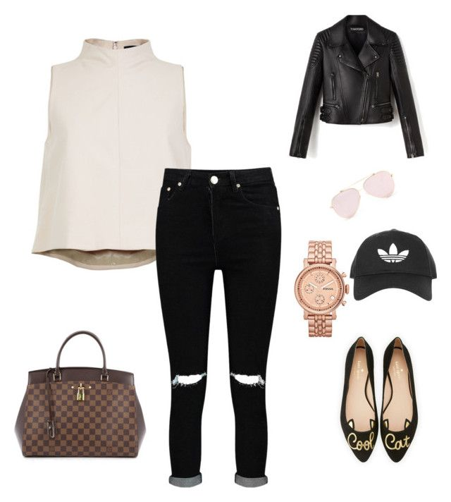 """Untitled #215"" by rekac on Polyvore featuring TIBI, Boohoo, FOSSIL, Topshop, Kate Spade and Louis Vuitton"