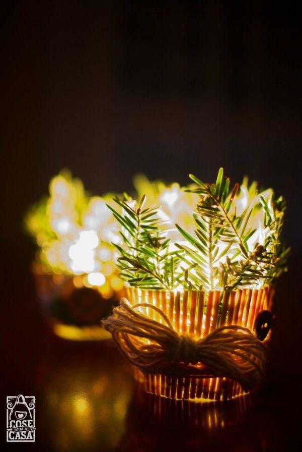 Portacandela natalizio fai da te: il risultato