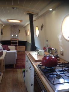 Interior of a 60ft Traditional style narrow boat