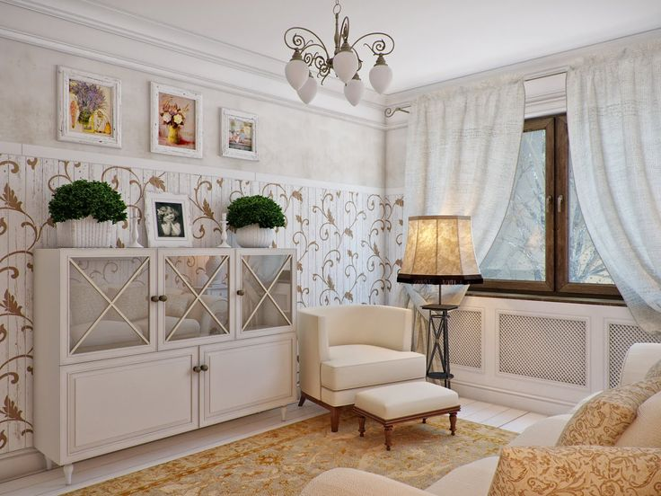 Интерьеры гостиной в стиле прованс