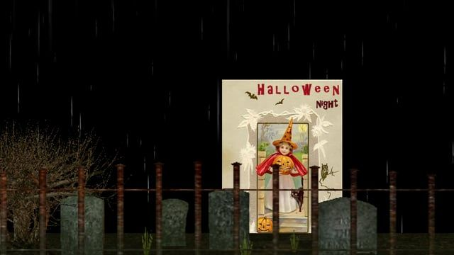 "100% Free Halloween music ambience featuring witch and crying girl sounds, thunder, rain and a music box playing EriK Satie music  ""Halloween Night"" Download at http://www.dl-sounds.com/index.php?main_page=product_music_info&products_id=1047"