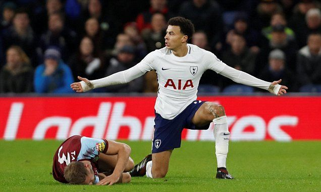 Tottenham's Dele Alli was again lucky to stay on the pitch