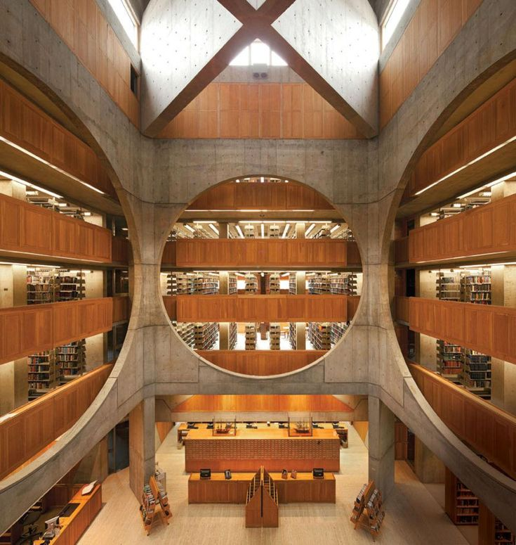 Phillips Exeter Academy Library New Hampshire [1000 x 1054]