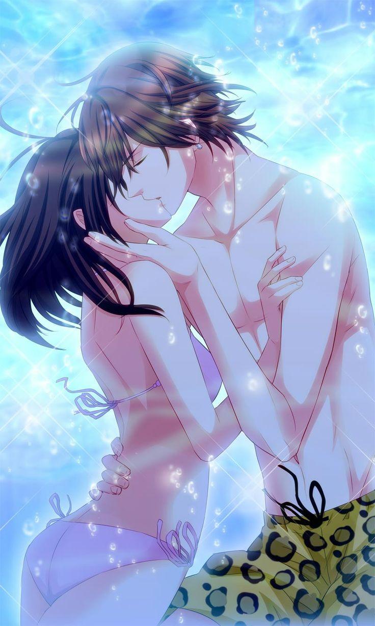 Аниме картинки про любовь страсть и поцелуи