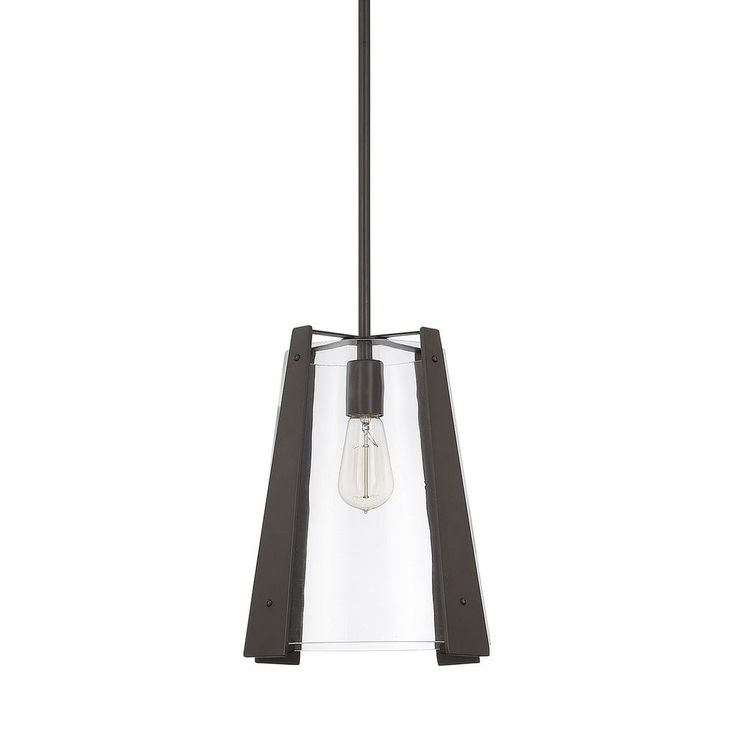 Capital Lighting Signature Collection 1-light Burnished Bronze Pendant