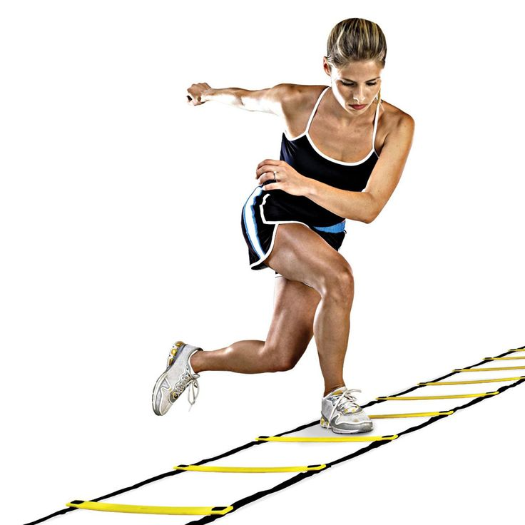 <Click Image to Buy>  Durable 11 rung 18 Feet 6m Agility Ladder for Soccer Speed Training  KSKS --  #Fitness