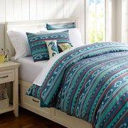 Surf Stripe Duvet Cover & Sham(Decorating a Teen's Room)