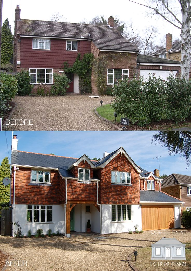 How to transform your family home! Extending, remodelling and careful attention to exterior materials. Character and charm have been created to this once soulless looking property. An amazing transformation!  By Back to Front Exterior Design