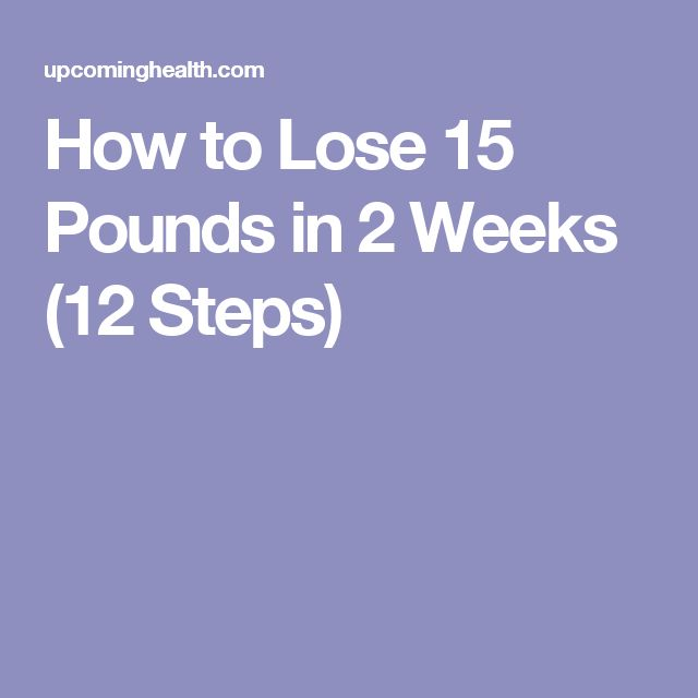how to lose weight with diet in 2 weeks