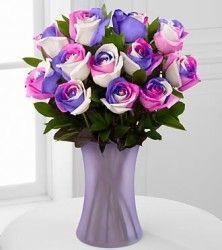 Fiesta Rainbow Roses – 12 Rainbow Roses