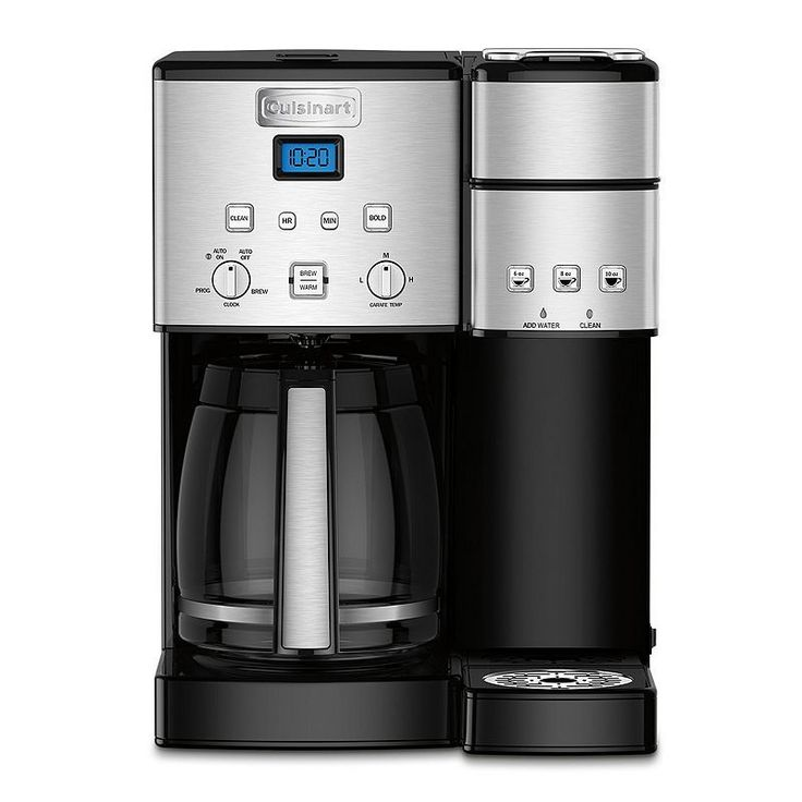 Cuisinart Coffee Center 12-Cup Black Stainless Steel Coffee Maker & Single-Serve Brewer, Grey