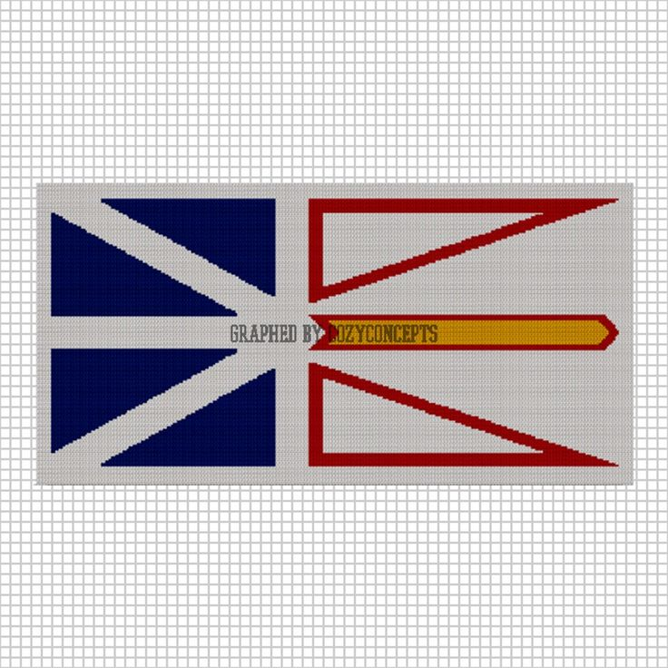 Knitting Pattern Us Flag : COZYCONCEPTS NEWFOUNDLAND FLAG Crochet Afghan Pattern Graph Shops, Newfound...