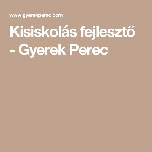 Kisiskolás fejlesztő - Gyerek Perec
