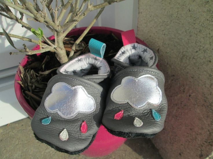 Petits chaussons en cuir, pointure 20 - modèle Sweet anything