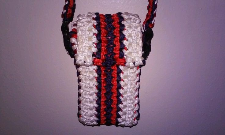 Iphone case paracord pouch shoulder bag cellphone case for How to make a paracord bag