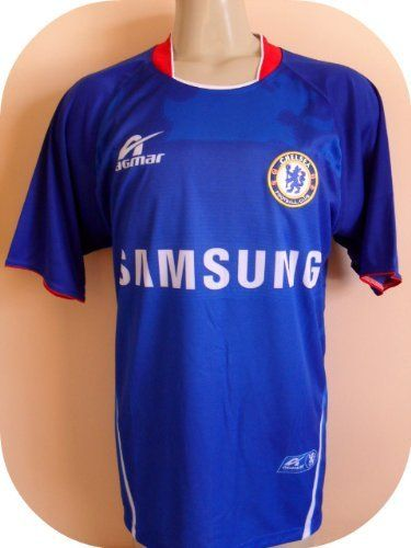 """CHELSEA SOCCER JERSEY SIZE LARGE.NEW."""" THE BLUES """".LIQUIDATION STOCK. by AGMAR. $23.99. NEW. GREAT QUALITY. SOCCER. LARGE. JERSEY. CHELSEA SOCCER JERSEY   YOU MUST ADD THIS ONE TO YOUR COLLECTION !!!! SIZE USA LARGE 22""""ARMPIT TO ARMPIT BY 29"""" THIS JERSEY IS AWESOME. GREAT DETAILS. COLLECTORS ITEM.  MADE DURABLE, BREATHABLE POLYESTER (100%).  EMBROIDERY SOCCER TEAM LOGO.  NO NAME OR NUMBER ON BACK OF THE JERSEY.  THIS JERSEY HAS AN ELEGANTLY SLEEK DESIGN WHICH MAK..."""