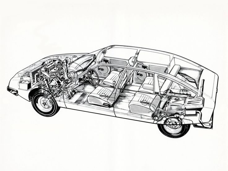What a great cutaway of a Citroën CX.